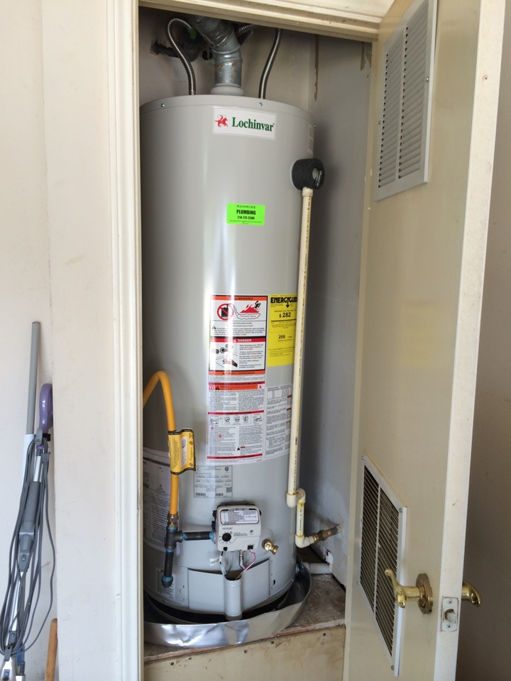 Water Heater in a tight closet